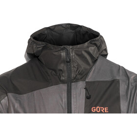 GORE WEAR R7 Gore-Tex Shakedry Hooded Jacket Herren lava grey/black